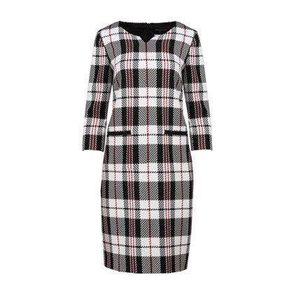 046a815a7b9a Suknia Vito Vegelis w czarno białą kratę 8707